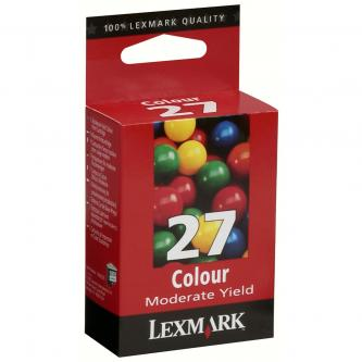 Lexmark originál ink blister, 10N0227BA, #27+, color, 160s, Lexmark Z13, Z23, Z33, Z25, Z35