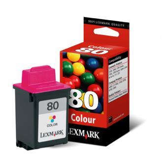Lexmark originál ink 12A1980E, #80, color, 275s, Lexmark Z11, 3200, 5700, 7000, 7200, Optra Color 45