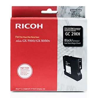 Ricoh originál gelová náplň 405536, black, 3000s, typ GC-21HK, Ricoh GX3000, 3050N, 5050N