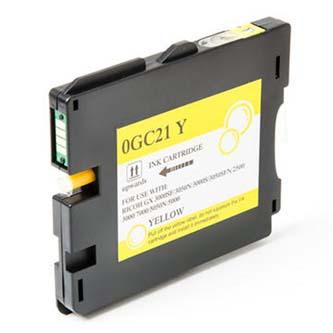 Ricoh originál gelová náplň 405539, yellow, 2300s, typ GC-21HY, Ricoh GX3000, 3050N, 5050N