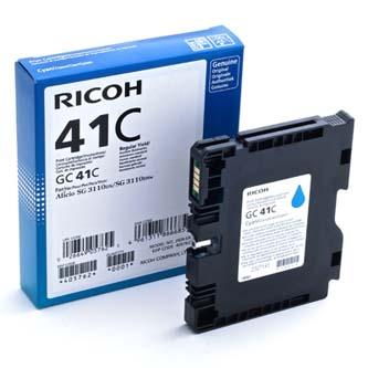 Ricoh originál gelová náplň 405762, cyan, 2200s, GC41HC, Ricoh AFICIO SG 2100N