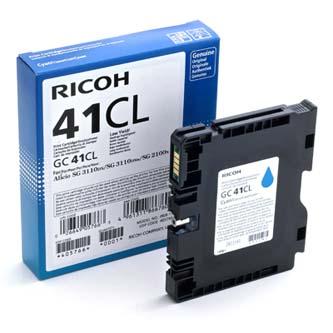 Ricoh originál gelová náplň 405766, cyan, 600s, GC41C, Ricoh AFICIO SG 2100N