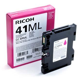 Ricoh originál gelová náplň 405767, magenta, 600s, GC41M, Ricoh AFICIO SG 3100, SG 3110