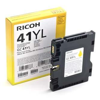 Ricoh originál gelová náplň 405768, yellow, 600s, GC41Y, Ricoh AFICIO SG 3100, SG 3110