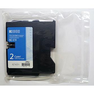 Ricoh originál gelová náplň 402283, cyan, 1000str., typ RC-C11, Ricoh G500, 700