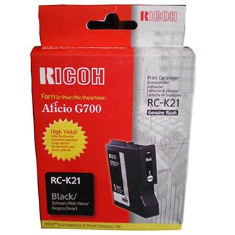 Ricoh originál gelová náplň 402280, black, 3000str., typ RC-K21, Ricoh G700