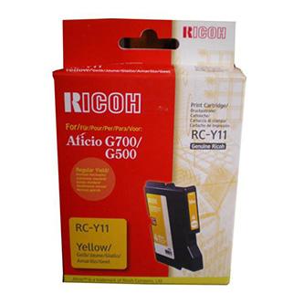Ricoh originál gelová náplň 402281, yellow, typ RC-Y11, Ricoh G500, 700