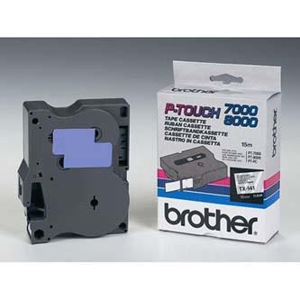 Brother originál páska do tlačiarne štítkov, Brother, TX-141, čierny tlač/priesv