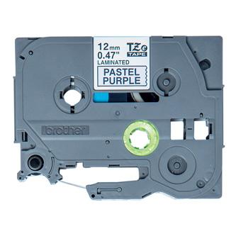 Brother originál páska do tlačiarne štítkov, Brother, TZE-MQF31, čierny tlač/fialový podklad, 4m, 12mm, pastelový podklad