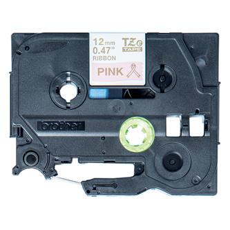 Brother originál páska do tlačiarne štítkov, Brother, TZE-RE34, zlatý tlač/ružový podklad, 4m, 12mm, pruhovaná