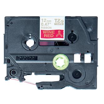 Brother originál páska do tlačiarne štítkov, Brother, TZE-RW34, zlatý tlač/červený podklad, 4m, 12mm, pruhovaná