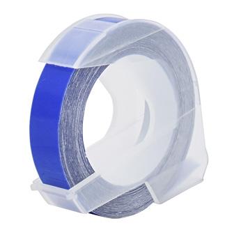 Dymo originál páska do tlačiarne štítkov, Dymo, S0898140, biely tlač/modrý podklad, 3m, 9mm, balené po 10 ks, cena za 1 ks, 3D