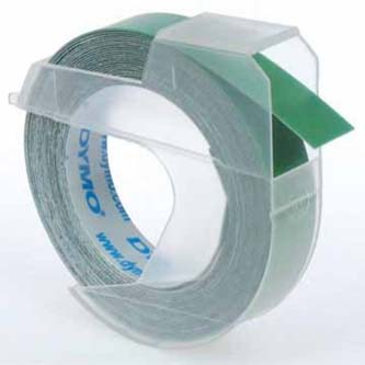 Dymo originál páska do tlačiarne štítkov, Dymo, S0898160, biely tlač/zelený podklad, 3m, 9mm, balené po 10 ks, cena za 1 ks, 3D