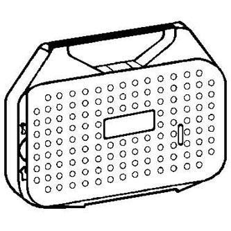 Páska pre písací stroj pre Olympia ES 70, 71, MINI OFFICE 60-62, čierna, textiln