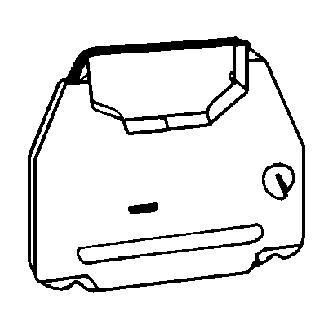 Páska pre písací stroj pre Robotron 60xx, 61xx, čierna, textilná, PK142, N