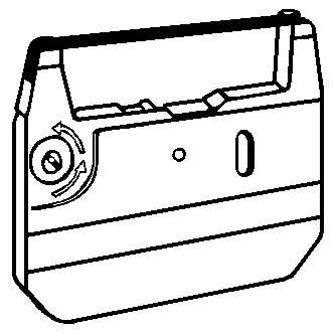 Páska pre písací stroj pre Sharp PA 3100, 3000, 3200, QL 800, 820, čierna, texti