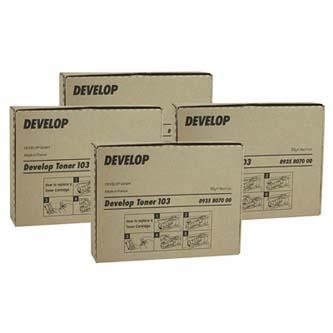 Develop originál toner 8935 8070 00, black, 6000s, 103, Develop D1300, 4x55g