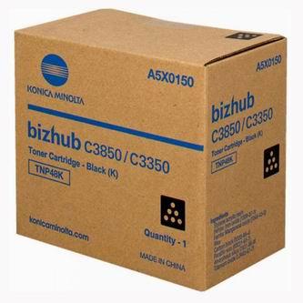 Konica Minolta originál toner A5X0150, black, 10000str., TNP48K, Konica Minolta Bizhub C3350, C3850