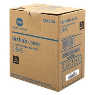 Konica Minolta originál toner A0X5154, black, 5000/4700str., TNP-50K, Konica Minolta Bizhub C3100P