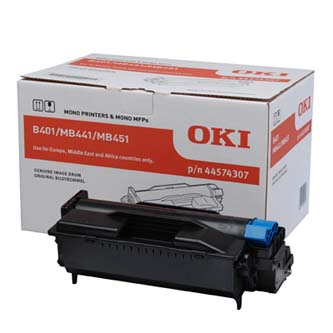OKI originál válec 44574307, black, 25000s, OKI B401